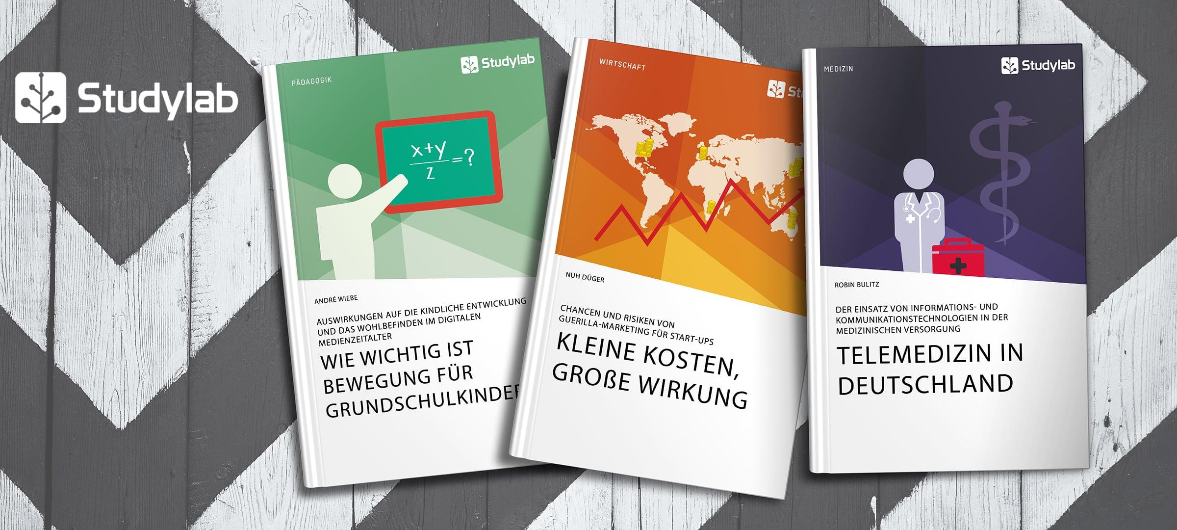 Titelbild: Titelbeispiele aus dem Portfolio von Studylab